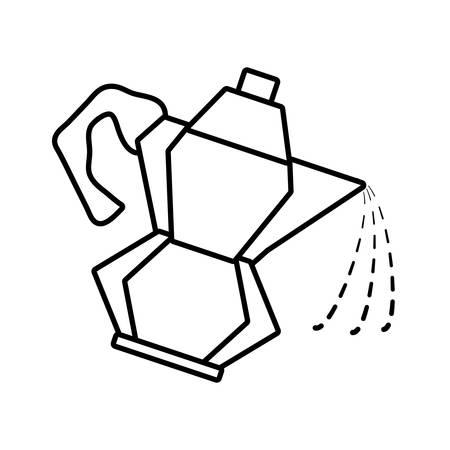 kettle coffee tea cookware outline vector illustration eps 10