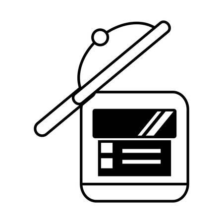 knive: rice cooker kitchen cookware domestic outline vector illustration eps 10 Illustration