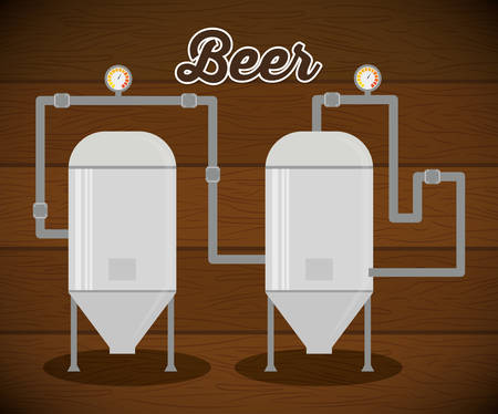 conveyors: brewery beer production factory vector illustration eps 10