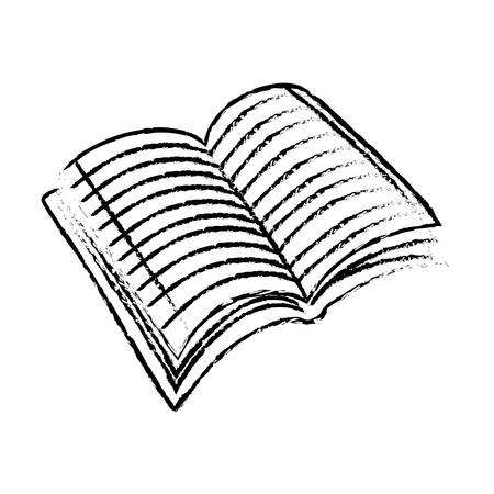 a literary sketch: Book scribble draw icon vector illustration graphic design