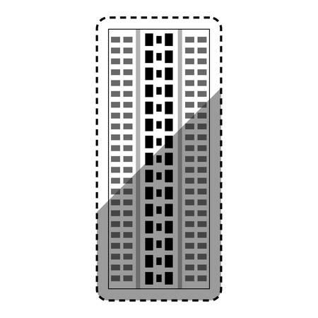 edifice: Urban city tower icon vector illustration graphic design