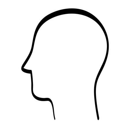 head silhouette icône humain illustration vectorielle design graphique