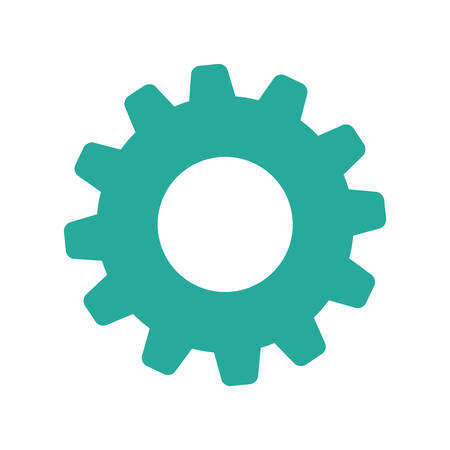 Isolated gear symbol icon vector illustration graphic design