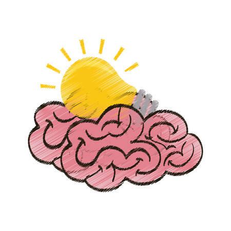 Human brain mind icon vector illustration graphic design Illustration