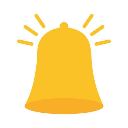 ringing bell icon image vector illustration design