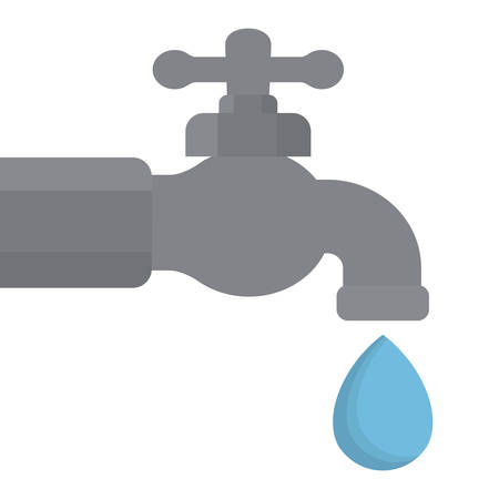 trickle: classic faucet icon image vector illustration design