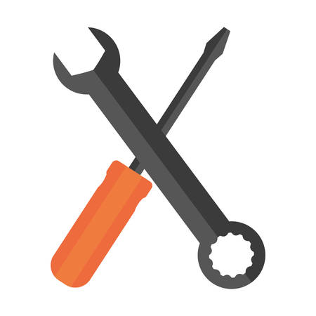 wrench and screwdriver icon image vector illustration design