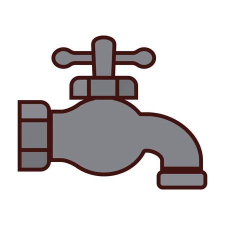 classic faucet icon image vector illustration design