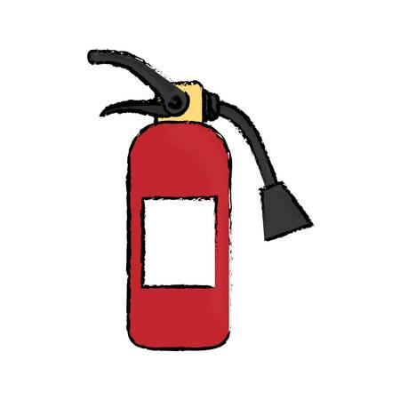 Fire extinguisher equipment icon vector illustration graphic design Illustration