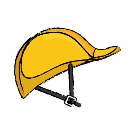Construction helmet hardhat icon vector illustration graphic design