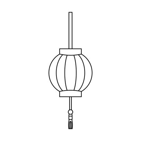 Japanese pendant light icon vector illustration graphic design