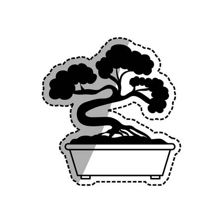 Bonsai japanese tree icon vector illustration graphic design