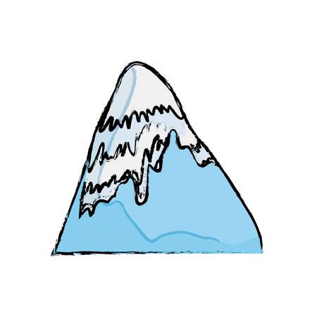peak: Mountain peak landscape icon vector illustration graphic design Illustration