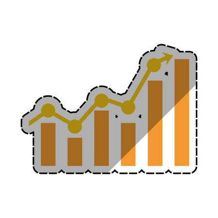 stock exchange brokers: Business growing up icon vector illustration graphic design