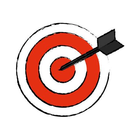 Dartboard target game icon vector illustration graphic design Illustration