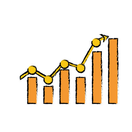 Business growing up icon vector illustration graphic design