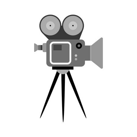 camcorder: Cinema camcorder equipment icon vector illustration graphic design
