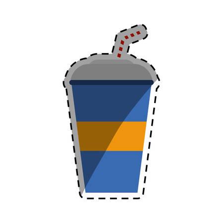 fiambres: soda fría taza icono de ilustración vectorial de diseño gráfico