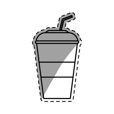 tin packaging: Cold soda cup icon icon vector illustration graphic design