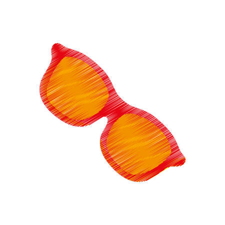 Summer sun glasses icon vector illustration graphic design Illustration