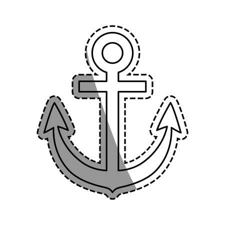Anchor marine emblem icon vector illustration graphic design