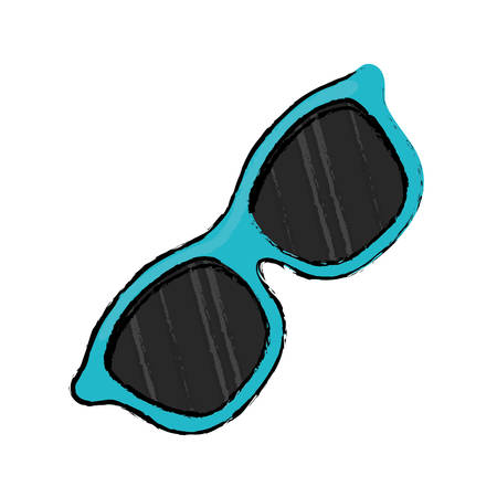 outdoor glamour: Summer sun glasses icon vector illustration graphic design Illustration