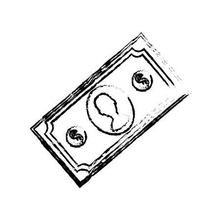 Billet money cash icon vector illustration graphic design Illustration