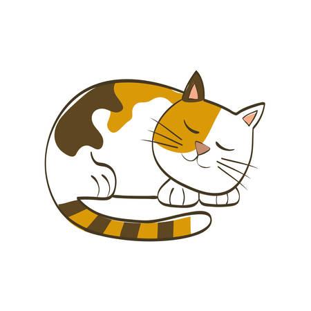 Cute cat cartoon icon vector illustration graphic design Illustration