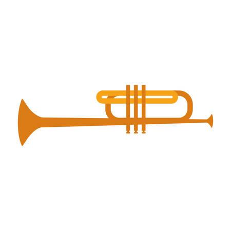 trumpet music icon image vector illustration design