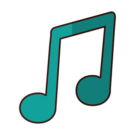 musical note icon image vector illustration design