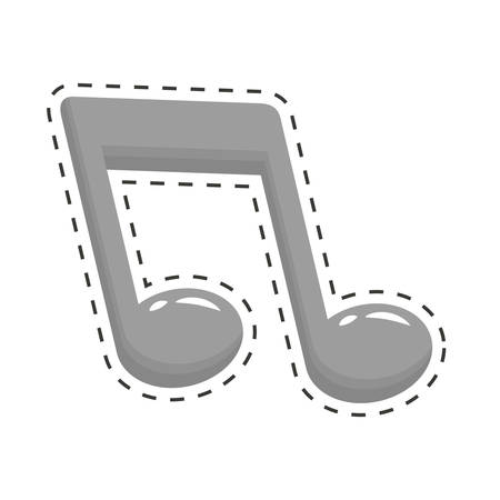 cut off: musical note icon image cut off vector illustration design