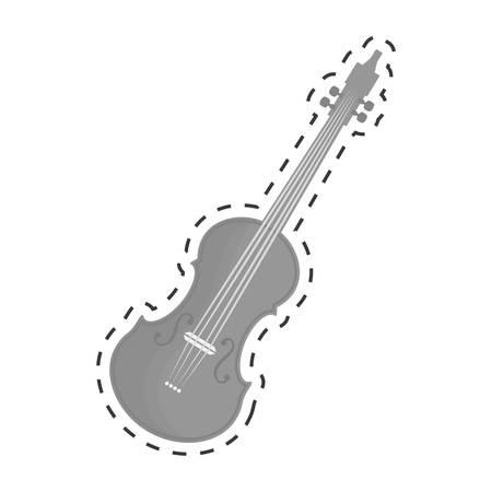 fiddles: violin or viola icon image vector illustration design
