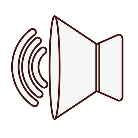 speaker sound icon image vector illustration design