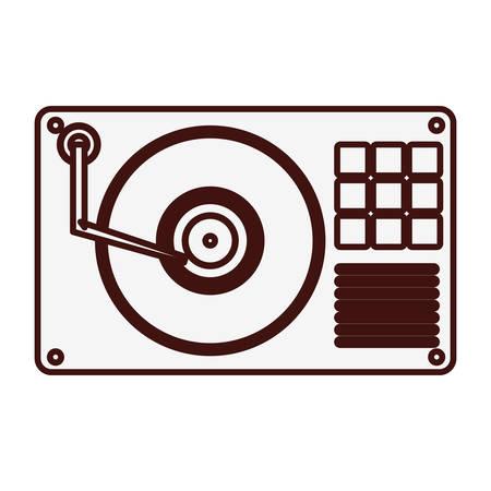 turntable: turntable music icon image vector illustration design