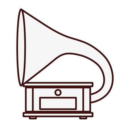loudhailer: gramophone music icon image vector illustration design Illustration