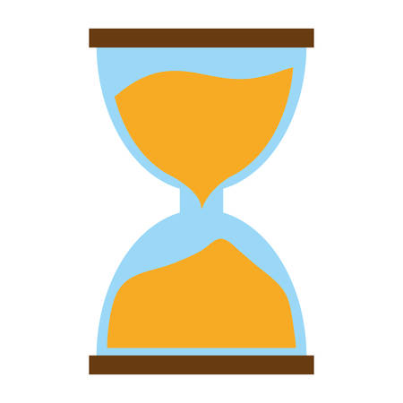 hourglass time icon image vector illustration design Illustration