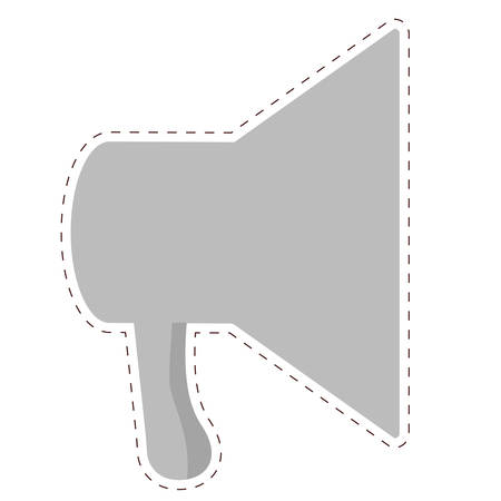 megaphone loudspeaker icon image vector illustration design