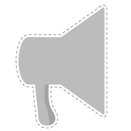 megaphone loudspeaker icon image vector illustration design