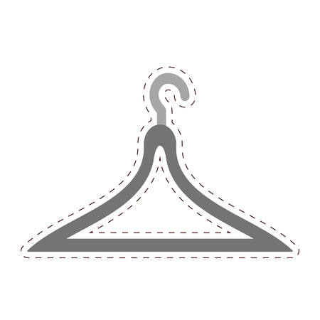 clothing rack: clothes hanger icon image vector illustration design Illustration