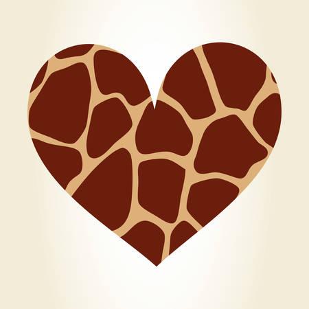 heart giraffe animal print pattern image vector illustration design Illustration
