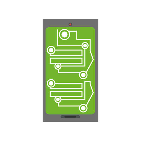 electronic board: smartphone circuit electronic board vector illustration eps 10