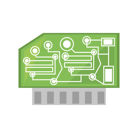 processor: computer hardware processor card vector illustration eps 10 Illustration