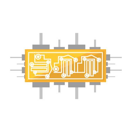 solder: circuit board electronic componet vector illustration eps 10