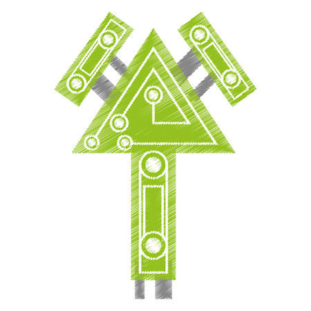 drawing computer circuit arrow electronic component vector illustration eps 10