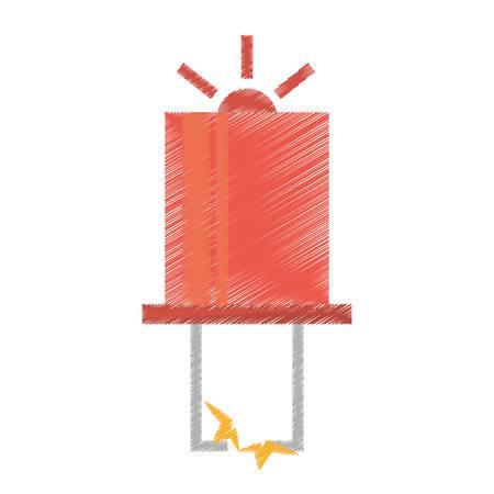 transistor: dibujo hardware ilustración vectorial transistor electrónica roja EPS 10