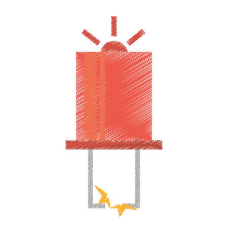 capacitor: drawing red electronic transistor hardware vector illustration eps 10 Illustration