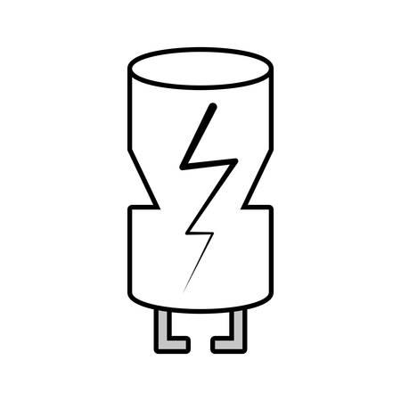 transistor: electrical component transistor linear vector illustration eps 10