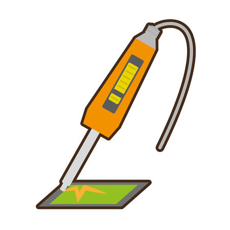 yellow electronic repair hardware pc vector illustration eps 10