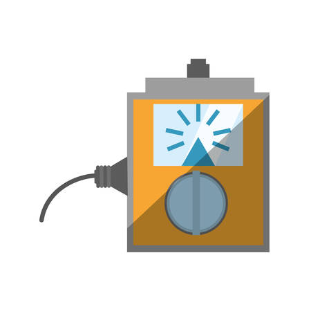 computer repair: electronic repair calibration maintenance computer shadow vector illustration eps 10 Illustration