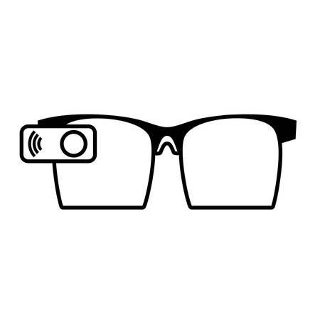 ar: ar glasses smart entertaiment wearable vector illustration eps 10